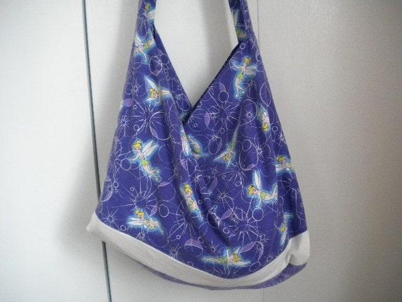 Disney Tinkerbell bag on a Purple Background