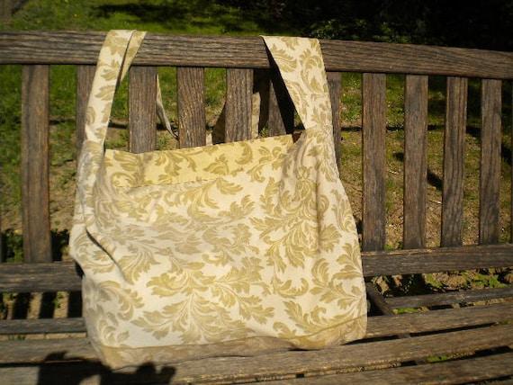 Gold on Gold Leaf Pattern Bag or purse