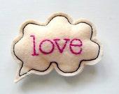 A Figure Of Speech Pin Brooch - LOVE