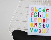 This is the alphabet print multicolor
