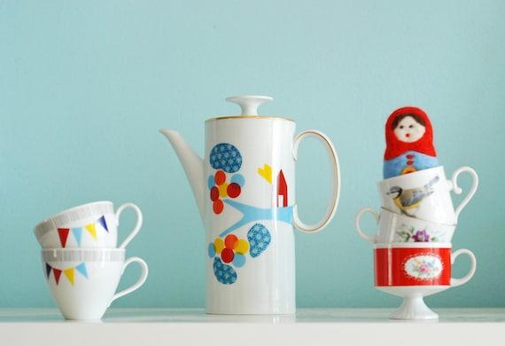 RESERVED FOR FELICIA Living in wonderland teapot