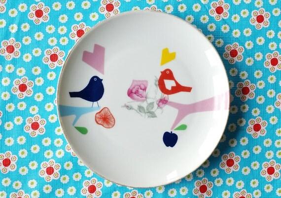 Lovebirds small plate