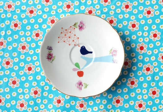 Atomic bird small plate