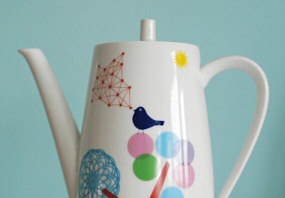 SECONDS SALE Large bird teapot