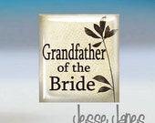 Tie Tack - GRANDFATHER of BRIDE - Weddings - Also available as Cuff Links