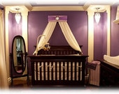 Bed Crown Canopy Princess Lavender Purple Silver Personalized FREE Upholstered  with Drapes SaLe