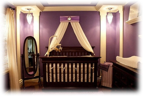 Bed Crown Canopy Teester Princess Lavender Purple Silver Personalized FREE Upholstered  with Drapes SaLe
