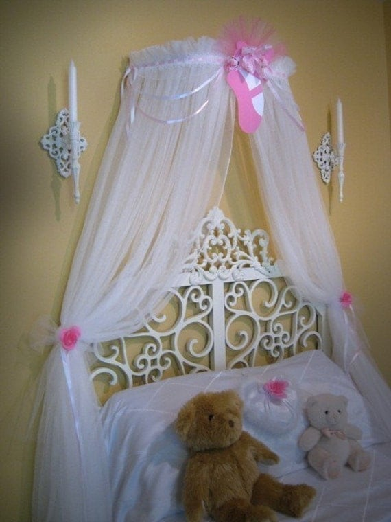 Princess Ballerina Fairy Bed Canopy Crown Ballet Style Netting