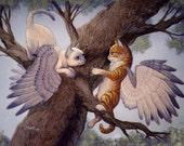Bluewing Kittens, 8x10 Print