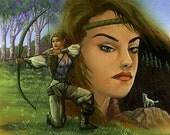 Elvish Hunter, 8x10 Print
