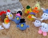 Crochet Pattern Easter Eggheads - Digital Download
