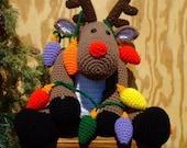 Crochet Pattern Christmas Roebuck the Reindeer, Digital Download