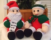 Crochet Pattern, Christmas Mr and Mrs Santa Claus, PDF Instant Download