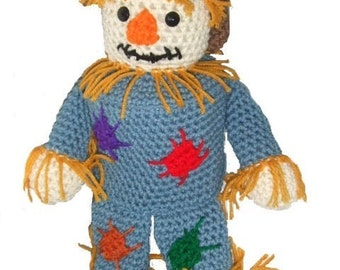 Crochet Pattern - Scarecrow TP Topper - PDF Download
