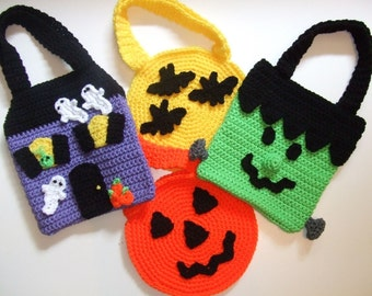 CROCHET PATTERN - CV007 Halloween Trick or Treat Bags - PDF Download