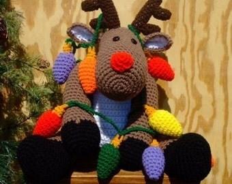 CROCHET PATTERN - CV063 Christmas Roebuck the Reindeer - Amigurami - PDF Download