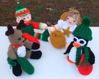 Crochet Pattern Christmas Toys and Gift Card Holders Set Two - Digital Download
