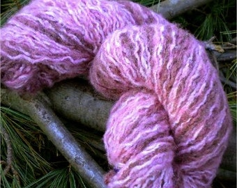BRAAAIINNNSS hand dyed easy-care acrylic/cotton/wool blend yarn from recycled sweater 100 gr/300 yards