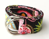 Fabric Belt Michael Miller Carnival of Bloom Custom Length