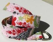 Flower Paisley Fabric Belt - Custom Length
