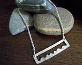 SALE Blue Ridge Appalachian Mountain Necklace, Sterling Silver