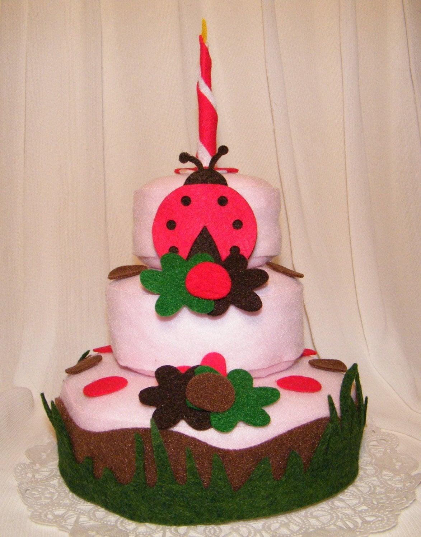 Felt cake decorations Ladybug Theme that your child can