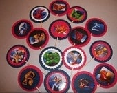 Super HEROs 3d Assortment Party Cupcake Toppers / 12ct / sale