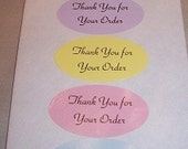 150ct  Pastel colors Thank you for your order labels / sale/discount