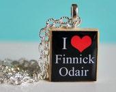 """Hunger Games Pendant """"I Heart Finnick Odair"""""""""""