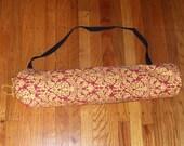 Yoga Mat Bag / Fleur De Lis Yoga Mat Bag / Yoga Bag / Yoga Tote / Red Yoga Bag / Pilates Bag