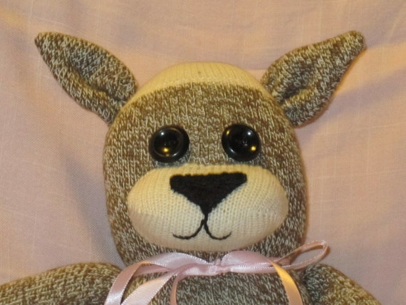 SOCK MONKEY CAT Traditional Hand Made Doll