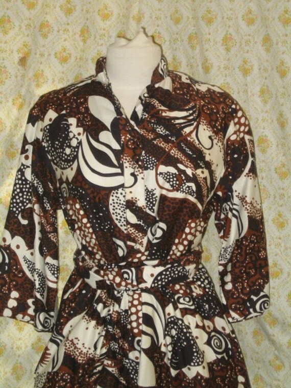 60'S 70'S BELLBOTTOM PANTSUIT IN BROWN AND BLACK