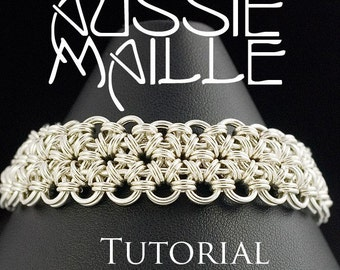 Chainmaille Tutorial Japanese 12in2 Chain Maille Bracelet Tutorial