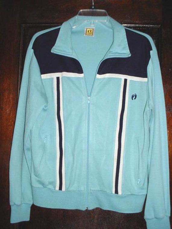 Vintage 80s Hang Ten Zip Up Track Jacket sz M