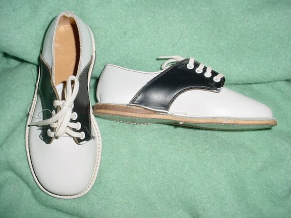 Childs Toddler Vintage 50s Saddle Shoes 7 By