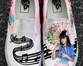 Hand Painted Katy Perry Shoes SIZE 7.5 MENS / 9 WOMENS (Ready To Ship)