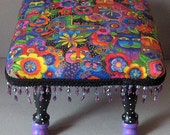 Colorful Kitties Footstool with Free Shipping to most US states