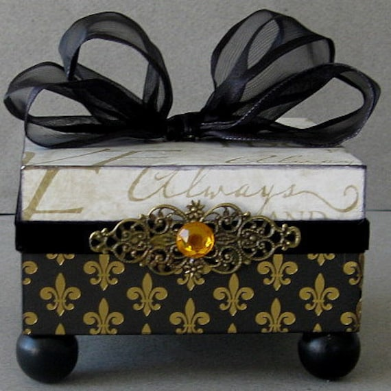 Gold Love Keepsake Box