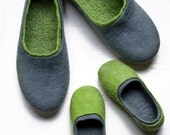 Matching father son slippers - 2 pair natural Felted wool slippers Family gift set for Father Daddy Mother Mom Mommy Baby Toddler Youth