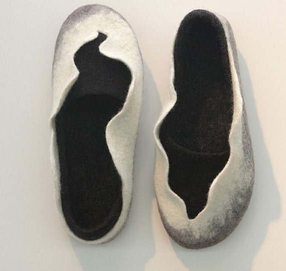 Felted high countered slippers - 2in1