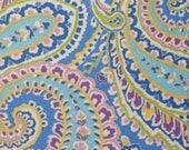 Capri Blue Vera Bradley Paisley Fabric 1 Extra Wide Metre 42 inches by 55 inches