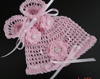 Newborn Baby Hat and Booties Set Crochet