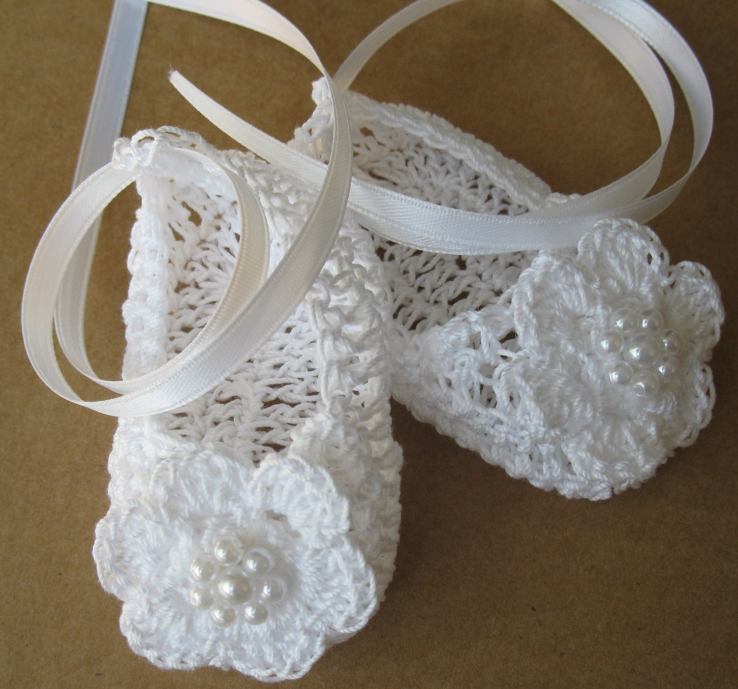 Crochet Newborn Baby Booties Infant Girl Crib Shoes Knit Baby