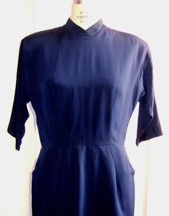 Navy 1940's Dress