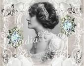 0133D.........DIGITAL DOWNLOAD...Elegant Victorian White Magnolia Shabby Chic