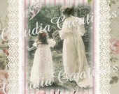 0157D....... DIGITAL DOWNLOAD Beautiful Mother and Daughter Mothers Day Card