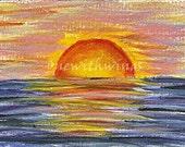 Caribbean Sun (Original ACEO)