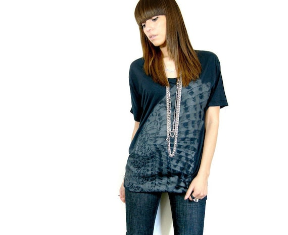 Wing print slouchy tee One Size