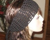 Cotton Black Dread Headband