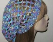 Mesh Slouchy Beanie Snood Dread Tam Hat in Monet